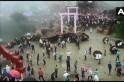 उत्तराखंड में पुलिस के पहरे में खेला गया पारंपरिक पत्थरबाजी का त्यौहार 'बगवाल', 120 घायल