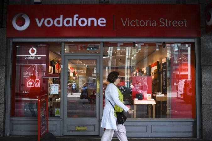 लंदन, ब्रिटेन में वोडाफोन का स्टोर