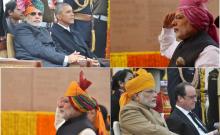 गणतंत्र दिवस पर पीएम मोदी ने बरकरार रखी परंपरा, बांधा केसरिया रंग का 'बंधेज' का साफा