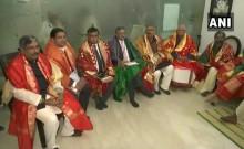 दिल्ली में हुई राम मंदिर ट्रस्ट की पहली बैठक, महंत नृत्यगोपाल दास अध्यक्ष और चंपत राय महासचिव चुने गए